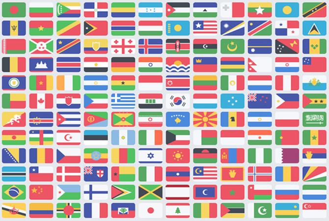 drapeaux de tous les pays