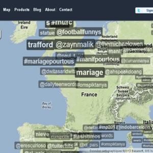 TrendsMap : les tendances Twitter en temps réel
