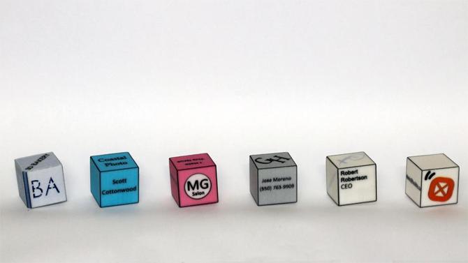 Calling Cube : des cartes de visites en 3D 1