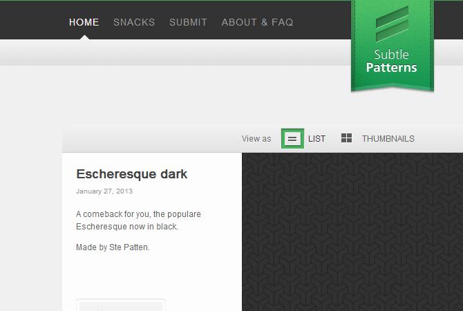 SubtlePatterns : testez vos motifs d'arrière-plan