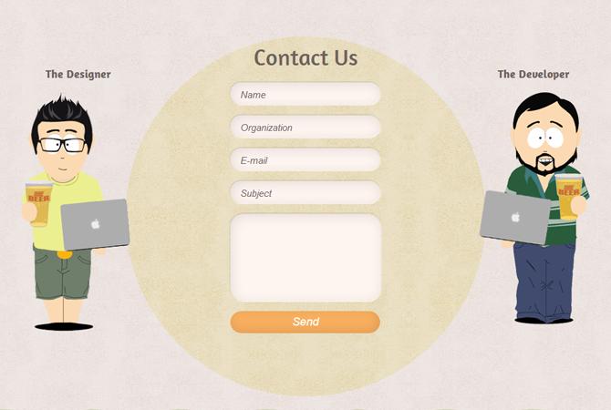 Formulaires de contact : 32 exemples totalement «in»