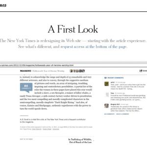 Refonte en vue pour le NY Times