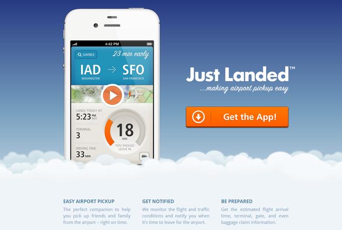 De belles landing pages pour des applis iPhone