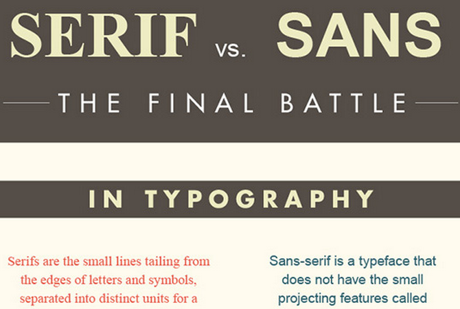 Serif or sans serif, that is the question !