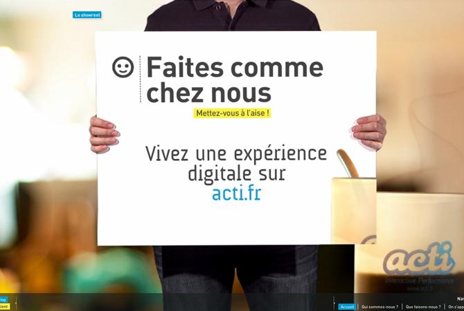 Acti.fr : une navigation en full-flash bien scénarisée