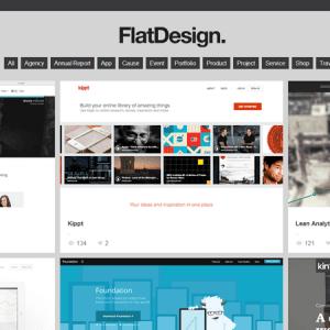 Flat design : un showcase inspirant