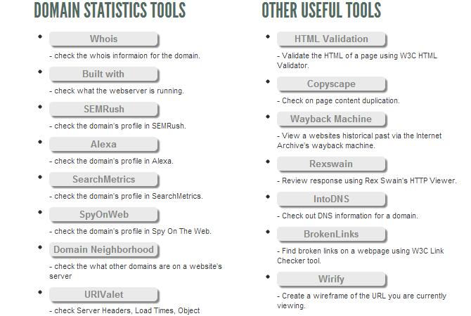 Une panoplie de bookmarklets pour évaluer son référencement