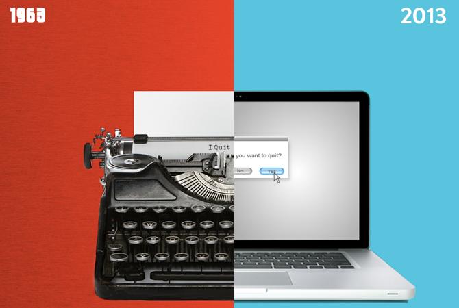 1963 – 2013 : Shutterstock compare 40 ans de progrès
