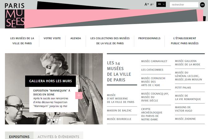 Nouveau site pour les musées de la Ville de Paris