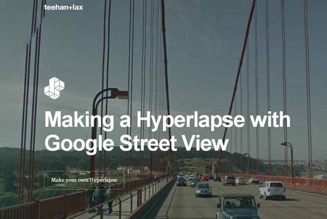 Hyperlapse : des petits films en accéléré avec Google Street View 1