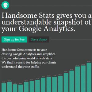 Handsome Stats : éditez simplement vos stats Google Analytics