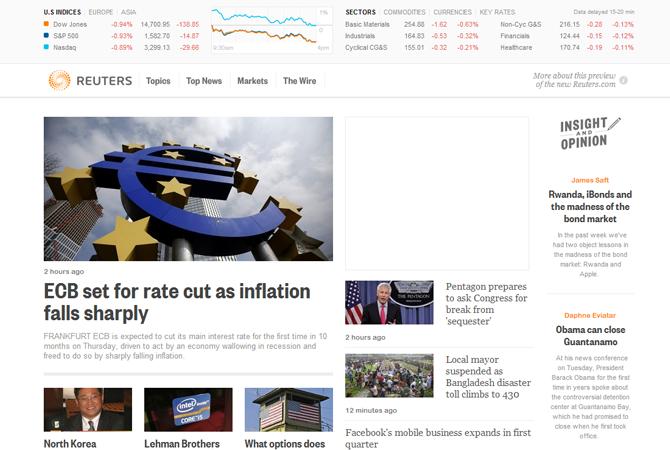 Redesign : découvrez la nouvelle maquette de l'agence Reuters