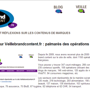 Marketing : quelles marques font le plus de brand content ?