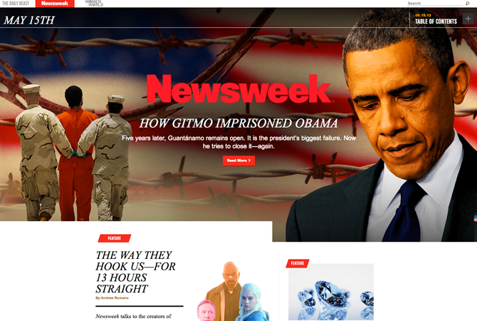 Redesign : quand le New York Times inspire Newsweek