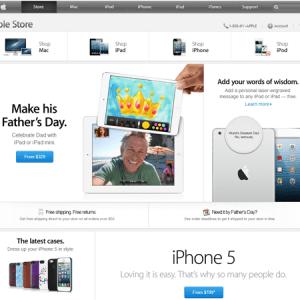 Webdesign : l'Apple Store s'est refait une beauté