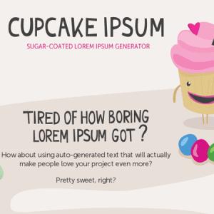 Cupcake Ipsum : le générateur de faux texte au goût sucré