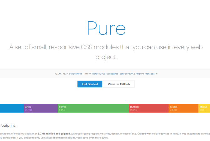 Pure : un kit de modules CSS pour vos projets responsive