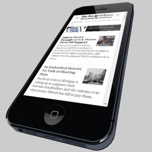 Une appli 3D pour simuler l'affichage d'un site sur iPhone 5