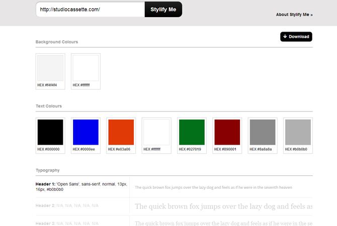 Stylify Me : éditez facilement le guide de style d'une page web