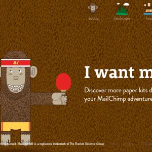 MailChimp Paper Buddy : découpez votre petit singe préféré