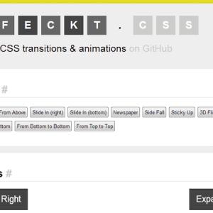 Effeckt.css : encore des effets créatifs pour animer vos pages web