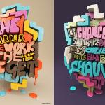 Découvrez la typo 3D de Chris LaBrooy