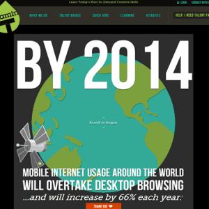 Découvrez la première infographie interactive mobile first
