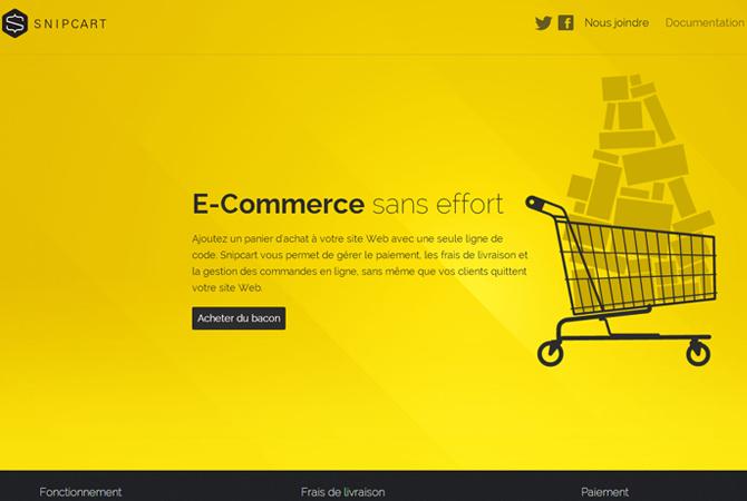 Snipcart : un nouveau panier d'achat en ligne responsive