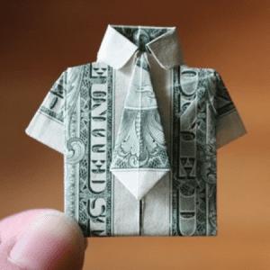 Inspiration : l'origami appliquée aux billets de banque