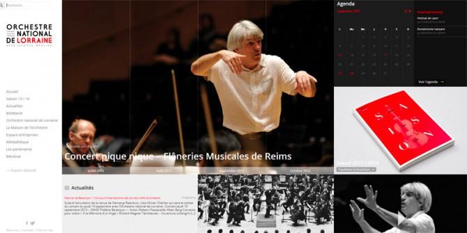 Site de l'Orchestre national de Lorraine livré