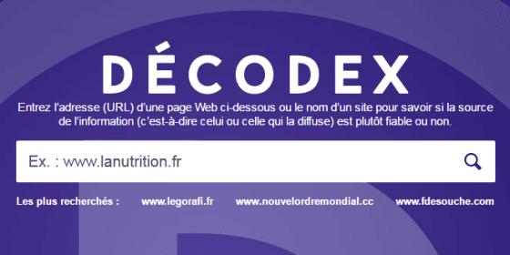 Decodex : le moteur de recherche pour vérifier vos sources 5