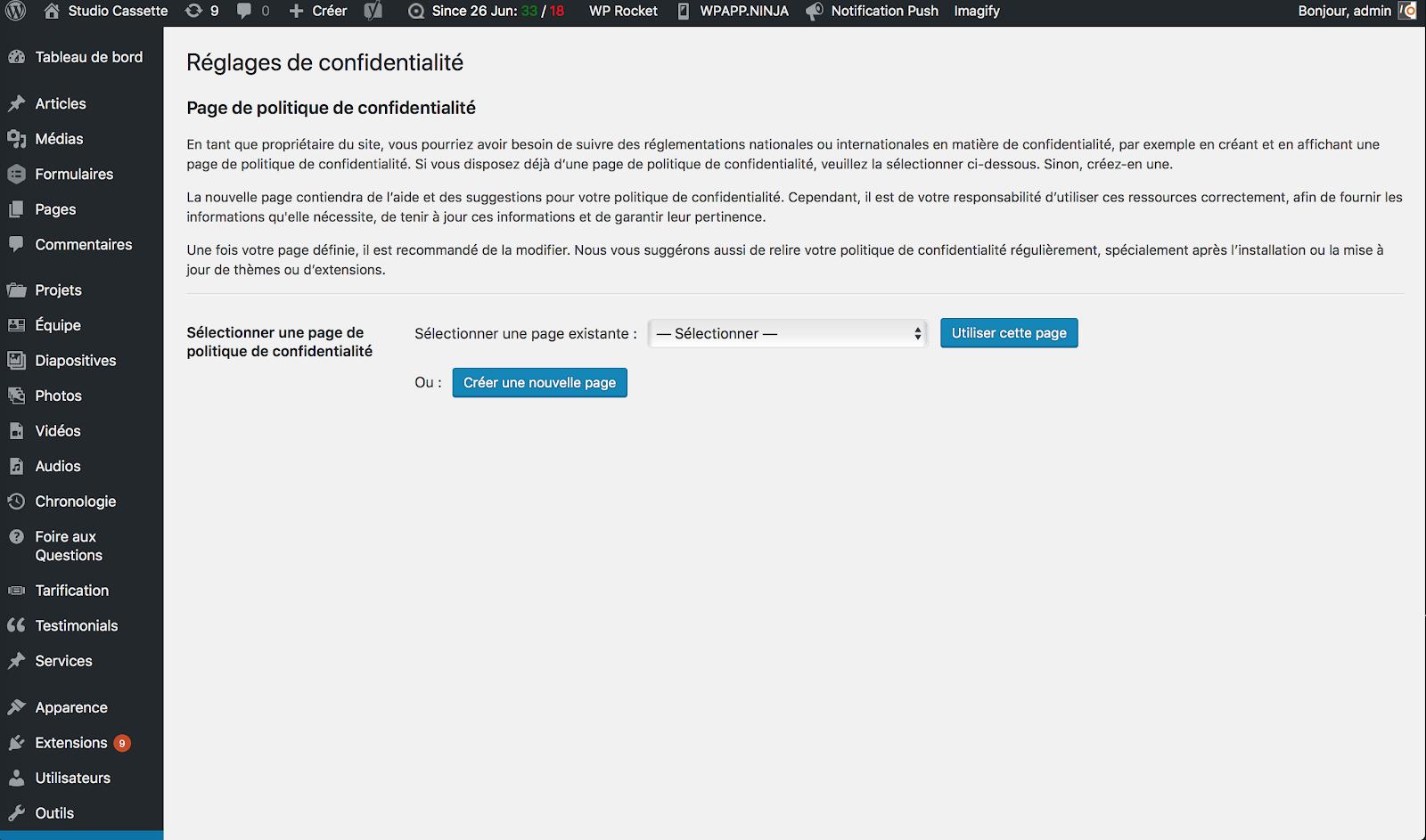 Comment Wordpress vous aide à vous conformer au RGPD 2
