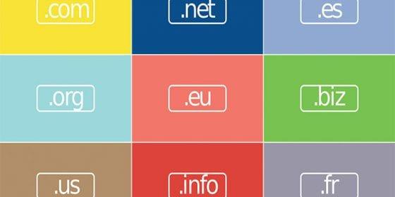 Plusieurs catégories d'extensions de noms de domaine