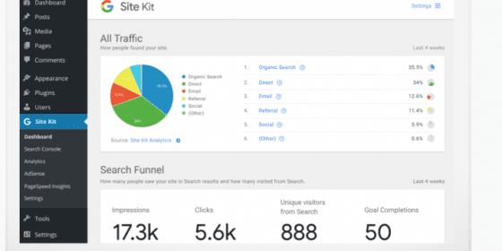 Site Kit : la version bêta du plug-in WordPress de Google 3